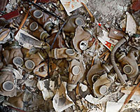 Sabotaged gas masks