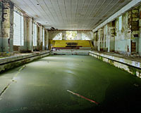 Swimming-pool with stagnant water for years